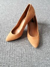 Marks & Spencer BNWT Ginger Suede Leather Heeled Shoes Size 7