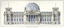 Architektur Reichstag Berlin Poster Kunstdruck Bild 42x93cm - Portofrei