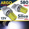 W21/5w 580 T20 Led Super White Silica Drl Sidelight 7443 Xenon Hid 582 Bulbs 12v