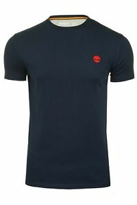 Timberland Mens Crew Neck T-Shirt River Jersey Crew - Short Sleeved Navy