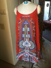 Hippie Dress, bohemian World Market Dress,  Hi Low Dress, Beach Dress L/XL