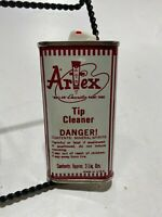 Vintage Collectible Craft Advertising TIN Container Artex Tip Cleaner Can *FULL*