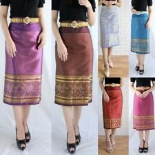 1 X NEW Traditional Thai Beauty Synthetic Short Sarong Skirt Wrap Ready to Wear