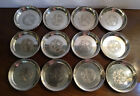 """12 Matching TOWLE """"Old Master"""" #201 Sterling Silver Coasters Dishes, Very Nice!"""