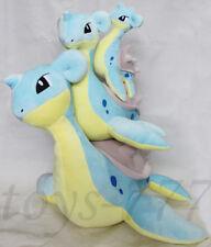 "Set of 3 Pokemon go Lapras 18"" 13"" 8"" Stuffed Animal Loch Ness Plush Toys Dragon"