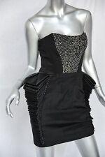 "HANNAH MARSHALL Womens Black*SPINE HIPS""Strapless Bustier STUDDED Short-Dress S"