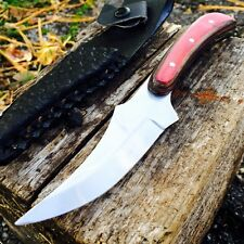 FULL TANG WOOD SKINNER HUNTING KNIFE fishing survival skinning BOWIE Military