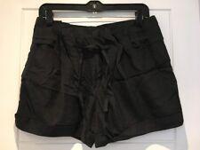 Helmut Lang Silk Shorts Pleats Gathered Waist Tie US 2 UK 6 8 S Small