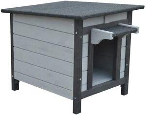 BUNNY BUSINESS Rabbit/Guinea Pig/Cat Wooden Hide House Run Hide - 50 x 42 x 43c
