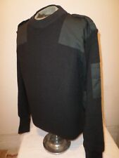DUTCH MILITARY ISSUE COMMANDO HEAVY WOOL SWEATER DARK GREEN SIZE X- LARGE