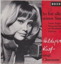 """7"""" EP Hildegard Knef So hat alles seinen Sinn (Knef singt Chansons) 60`s DECCA"""