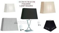 "13"" 15"" 17"" 21"" LAMP SHADE WHITE CREAM GREY BLACK RECTANGLE & SQUARE TABLE FLOOR"