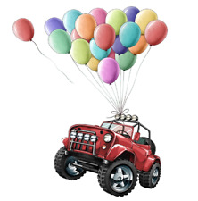 Car Balloon Wall Stickers Red Car And Balloon Wall Decals Removable Home Decor