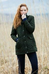 BNWT Dubarry Kanturk quilted jacket / coat, size 12, green (verdigris)