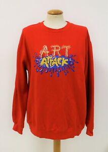 90's Retro Art Attack Jumper Sweatshirt Vintage TV Memorabilia Classic Medium
