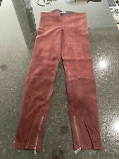 Vince Burgundy Dark Red Leather Suede Leggings Pants Trousers Size M EUC