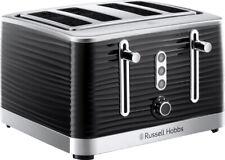 Russell Hobbs Inspire 4 slice Toaster - Black - RHT114BLK - End of Line -