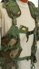 USGI MILITARY Enhanced Tactical Load Bearing Vest Woodland Camo Good Condition