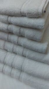 ULTIMATE LUXURY BOUTIQUE 800GSM THICK WHITE TURKISH PIMA 100% COTTON TOWELS