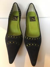 Reed Evins Blue & Green Suede  Shoes Women Size 38 1/2 (8 1/2) Made In  Italy
