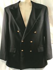 Brooks Brothers Mens 3 Button Suit Jacket Navy Wool and Polyester Size XL