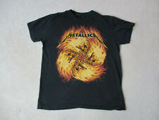 Metallica Concert Shirt Adult Medium Black Orange Rock Music Tour Band Mens