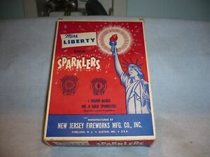 great original empty box miss liberty gold sparklers new jersey fireworks