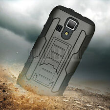 For Kyocera Hydro Icon C6730 Rugged Hybrid Hard Case Cover Armor Skin Belt Clip