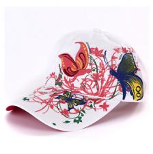 2 Color Fashion Baseball Cap Hats For Women Snapback Butterflies Flowers FemaLe