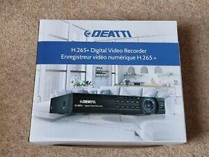 Deatti H.265+ Digital Video Recorder 4 Channel CCTV DVR 1080p Brand New Boxed