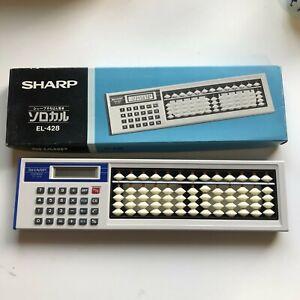 SHARP EL-428 Japanese Abacus Soroban Calculator SOROCAL Un-used F/S