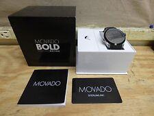 Movado Bold Motion 3660001 Black Silicone Strap Smartwatch *BRAND NEW* FREE SHIP