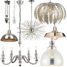 Colgante de Techo Luces – Metal Cromado Efecto Plata – Moderno Interior Lámparas