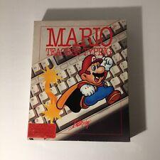 Mario Teaches Typing Vintage 1992 Interplay Nintendo IBM Complete In Box