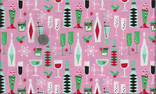 Mid Century Modern Retro Atomic Christmas Holiday Party I Spy Fabric Fat Quarter