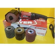 STAYER LS1200B + 4 Rulli in Fili di Acciaio + Nylon Satinatrice Rusticatrice