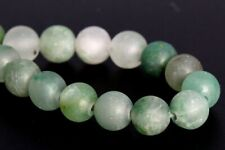 6MM Natural Matte Green Calcedony Beads Grade AAA Round Loose Beads 7.5""