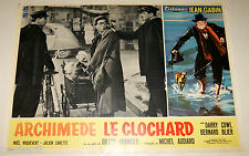fotobusta originale ARCHIMEDE LE CLOCHARD Jean Gabin Gilles Grangier 1959 #8