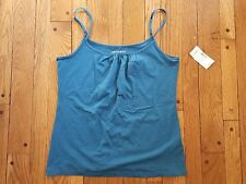 Fashion Bug size L teal blue cami tank w/adjustable straps. NWT's!