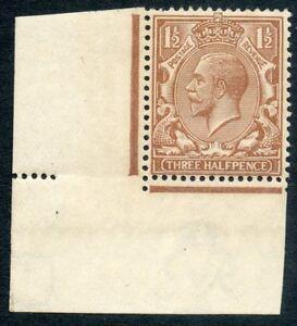 1918 1½d pale brown wmk Royal C unused o.g. Spec No N18(9).