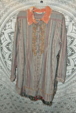 Soft Surroundings Embroidered Back Elena Tunic Size XL