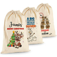Personalised Christmas Gift Bag Stocking Santa Christmas Sack Bag For Family