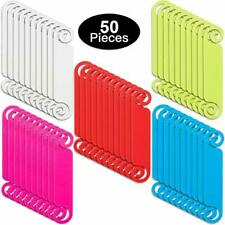50 Pieces Cable Tags Cable Management Labels Multicolor Cable Labels Cord Tags
