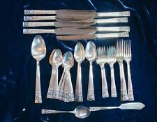 Oneida Community ~ Coronation ~Silver Plate Flatware 53 Pc ~ Svc. 8