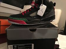 air jordan spizike size 12.0 black/green/red Deadstock new in box