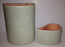 Vintage Red Wing Pottery Planter #B2113 & Candle Holder Blue/Gray & Pink