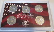 1999 U.S. Mint Silver Quarter Proof Set No Box/COA 5 State Silver Quarters