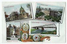 Crests MONTREAL Quebec Canada 1906-13 H F Watson Patriotic Multiview Postcard