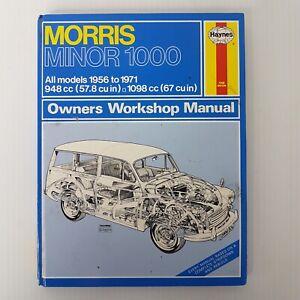 Morris Minor 1000 Owners Workshop Manual All Models 1956 to 1971 HC 1987 Haynes
