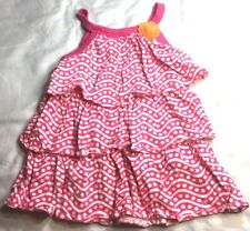 Carter's 3-tiered sundress, pink with white polka dots, size 18 months